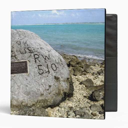A memorial to prisoners of war on Wake Island Vinyl Binders