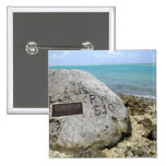A memorial to prisoners of war on Wake Island 2 Inch Square Button