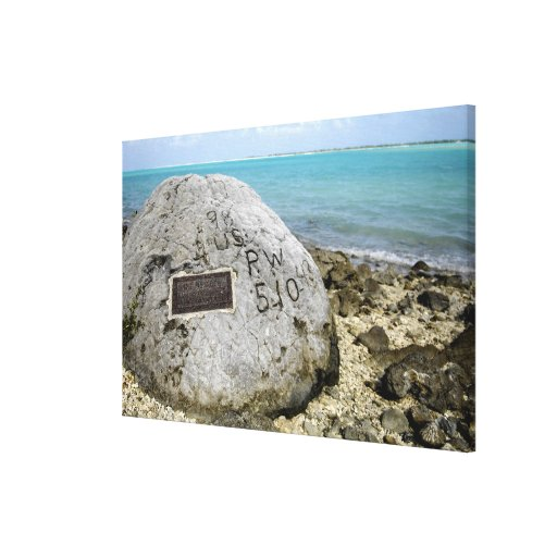 A memorial to prisoners of war on Wake Island Gallery Wrap Canvas