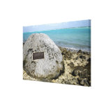 A memorial to prisoners of war on Wake Island Canvas Print