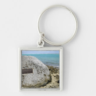 A memorial to prisoners of war on Wake Island Keychains
