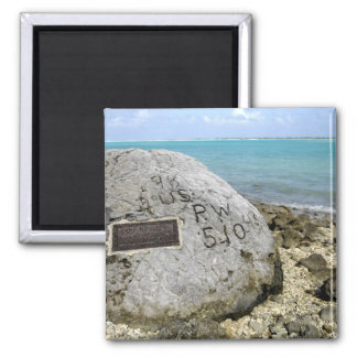 A memorial to prisoners of war on Wake Island Magnet