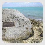 A memorial to prisoners of war on Wake Island Square Sticker