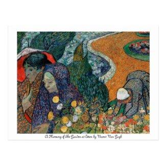 A Memory of the Garden at Etten postcard