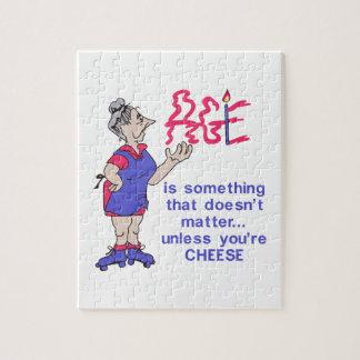 A menos que usted sea queso puzzle