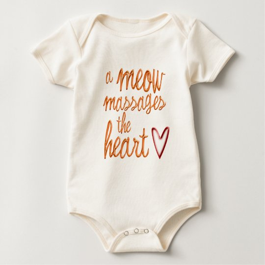 A meow massages the heart. baby bodysuit