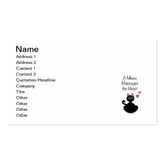 A Meow Massages the Heart Business Card