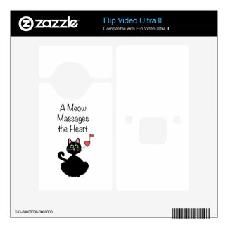 A Meow Massages the Heart Decals For Flip Ultra II