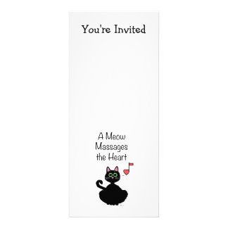 A Meow Massages the Heart Personalized Invitation
