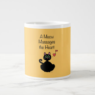 A Meow Massages the Heart Jumbo Mug