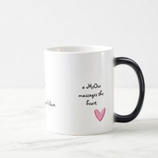 a MEOW massages the heart Magic Mug