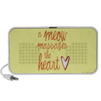 A meow massages the heart notebook speakers