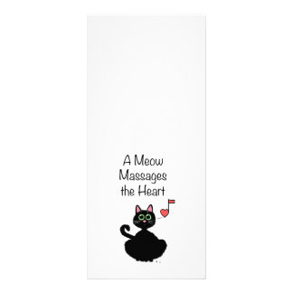 A Meow Massages the Heart Personalized Rack Card
