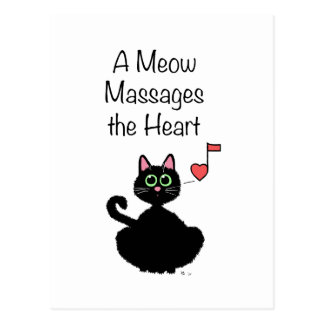 A Meow Massages the Heart Postcard