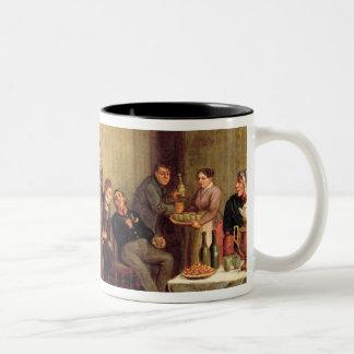 A merchant's evening party Two-Tone coffee mug