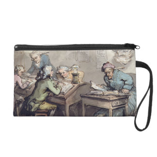 A Merchant's Office, 1789 (pen & ink and w/c over Wristlet Purse