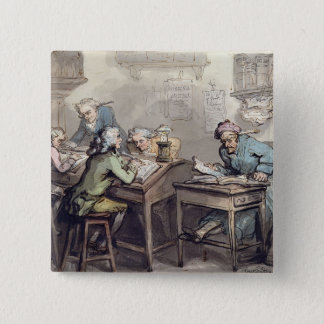 A Merchant's Office, 1789 (pen & ink and w/c over Pinback Button