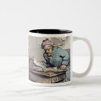 A Merchant's Office, 1789 (pen & ink and w/c over Two-Tone Coffee Mug