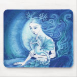 A Mermaid and her Seahorse Mouse Pads