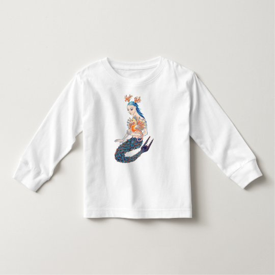 A Mermaid and her Seahorse Toddler T-shirt