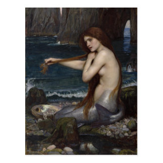 A Mermaid by John William Waterhouse Post Card