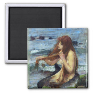 A Mermaid (study) 2 Inch Square Magnet