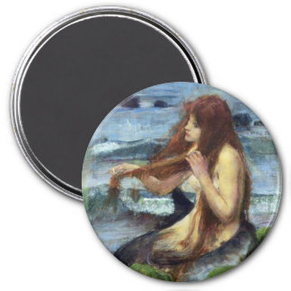 A Mermaid (study) 3 Inch Round Magnet