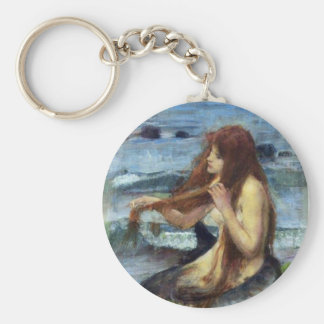 A Mermaid (study) Basic Round Button Keychain