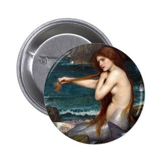 A Mermaid, Waterhouse Pins