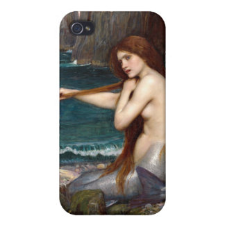 A Mermaid, Waterhouse Cover For iPhone 4