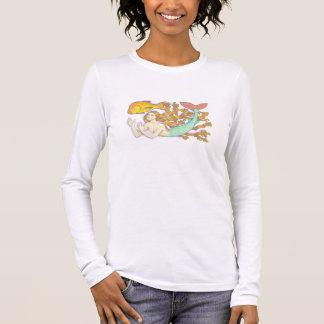 A mermaid with goldfish shirt. long sleeve T-Shirt