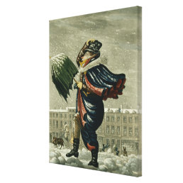A Merry Christmas and a Happy New Year in London, Canvas Print