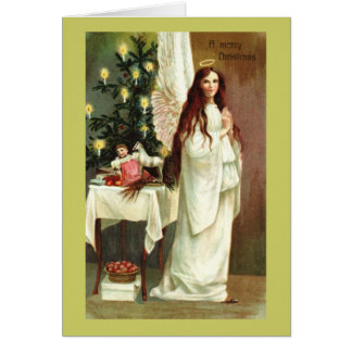 A Merry Christmas Angel Vintage Card