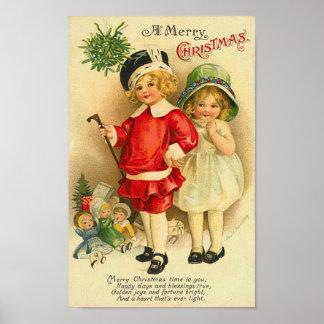 A Merry Christmas Children Card Print