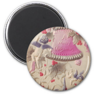 A Merry Christmas Dutch Girl 2 Inch Round Magnet