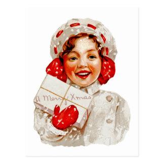 A Merry Christmas Girl Postcards