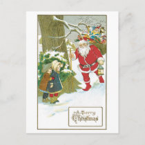 A Merry Christmas Holiday Postcard