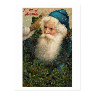 A Merry Christmas Old St Nick Card Postcard