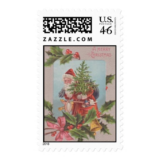 A Merry Christmas Postage Stamps