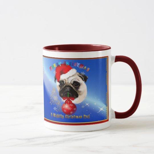 A Merry Christmas Pug Mug