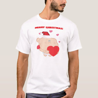 A Merry Christmas Romantic Cupid with Heart T-Shirt