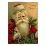 A Merry Christmas Santa and Doll Card