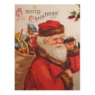 A Merry Christmas Santa Telephone call Postcard