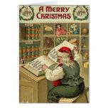 A Merry Christmas Santa's workshop Cards