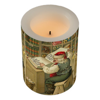 A Merry Christmas Santa's workshop Flameless Candle
