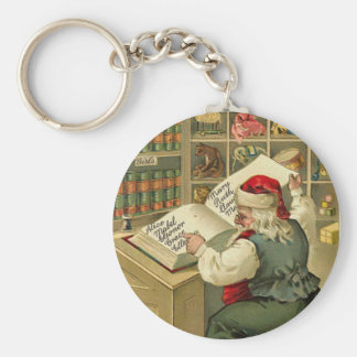 A Merry Christmas Santa's workshop Keychain