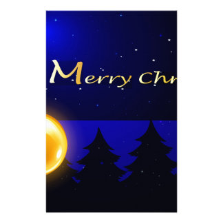 A merry christmas template with four balls stationery