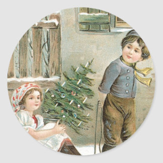 A Merry Christmas to You! Classic Round Sticker
