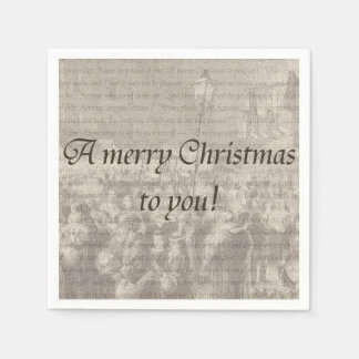 A merry Christmas to you! Napkin