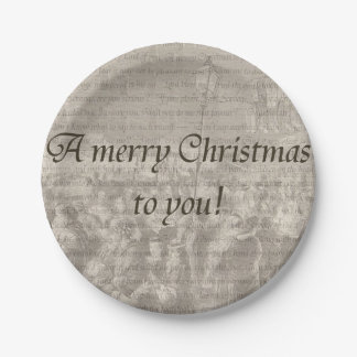 A merry Christmas to you! Paper Plate